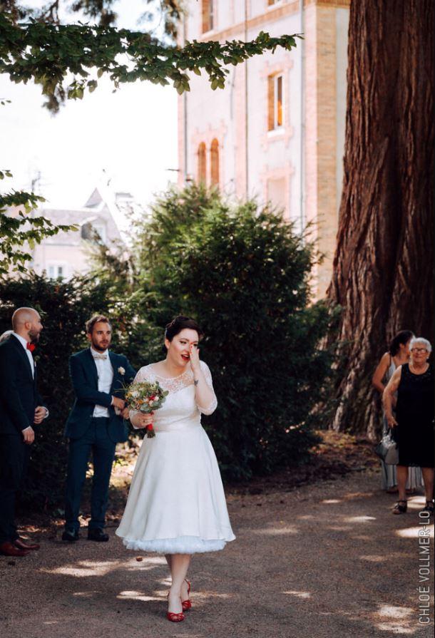Robe cousue main, décor fait maison ... ce mariage va vous