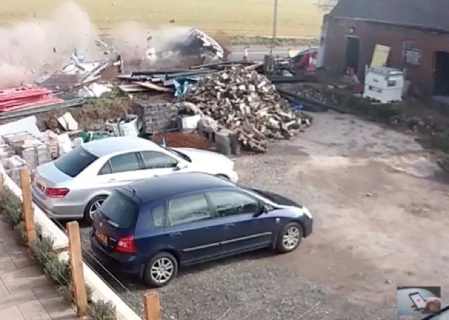 Car somersaults 15ft through air at UK accident blackspot