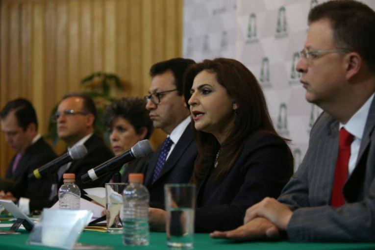 Conferencia de prensa de magistrados del TEPFJ respecto a la sentencia en el caso del aspirante Jaime...