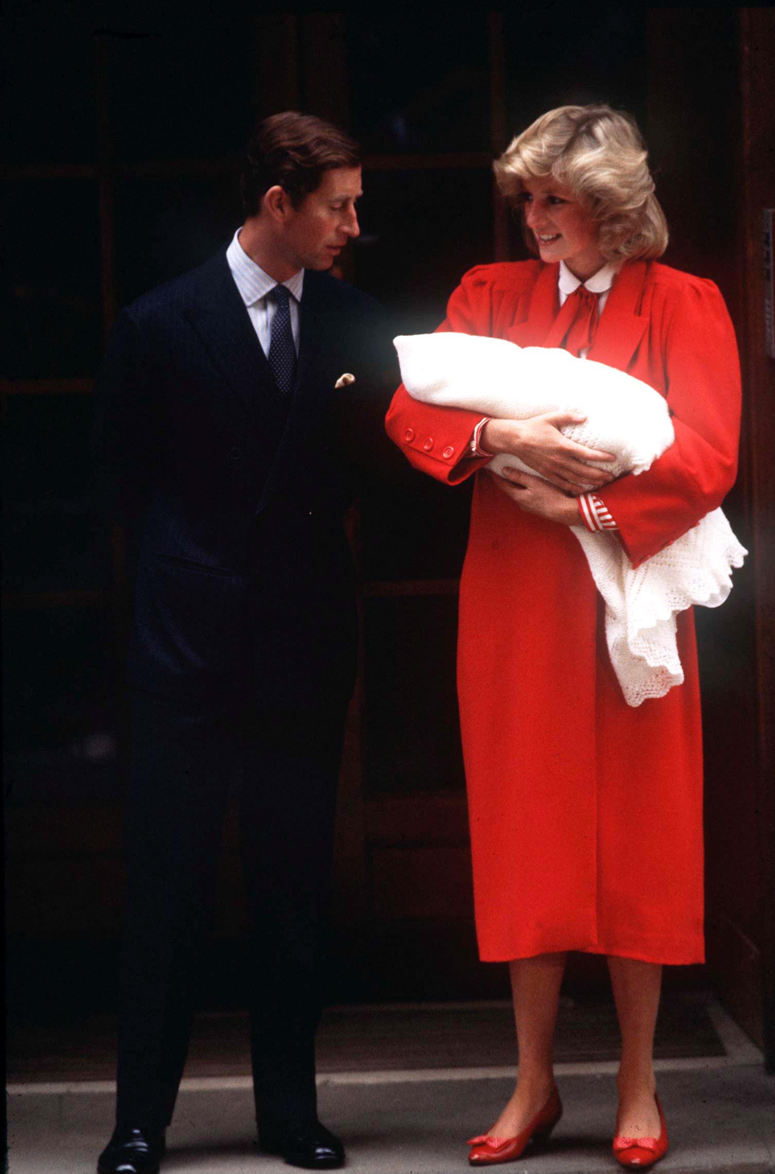 Diana Charles Baby Harry