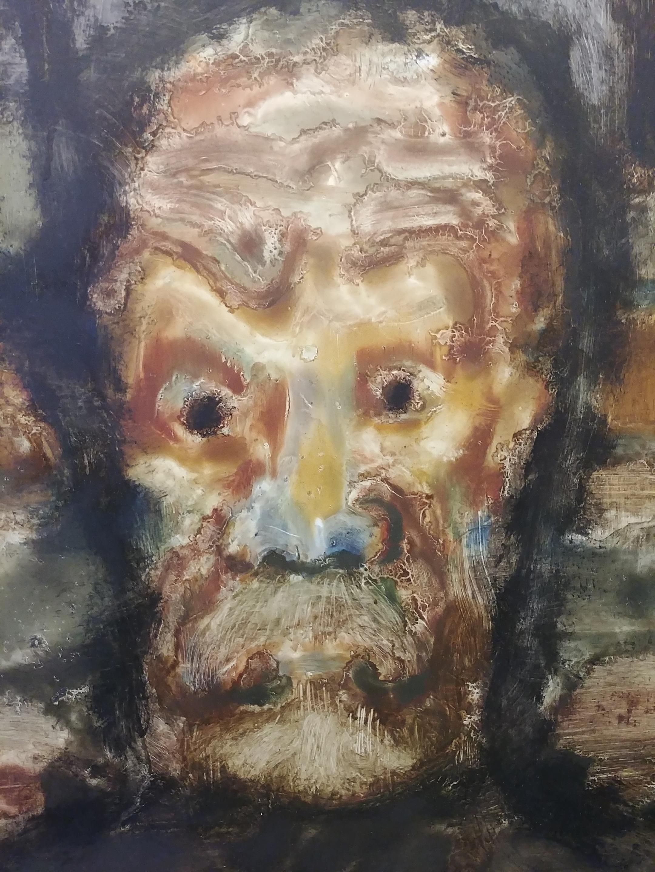 Muchos de estos cuadros son acercamientos, más que a su rostro, a la manera en que el artista se reconoce...