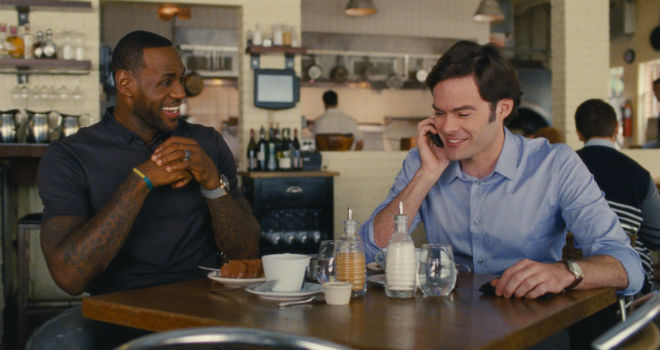 lebron james and bill hader in trainwreck