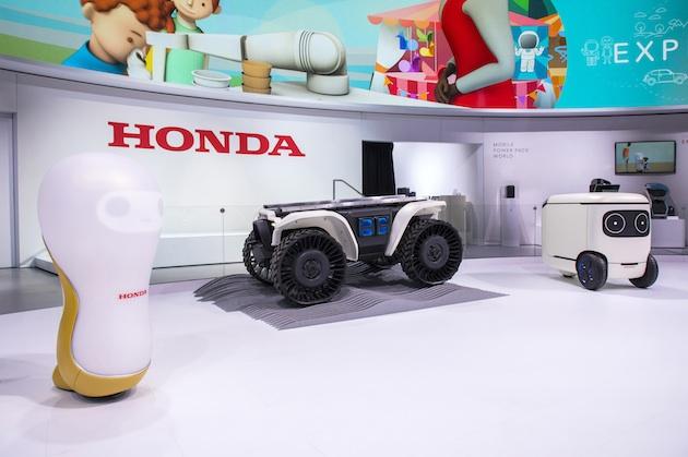ホンダ、人の役に立つ様々なロボットと着脱可能なバッテリー「モバイルパワーパック」をCESで公開