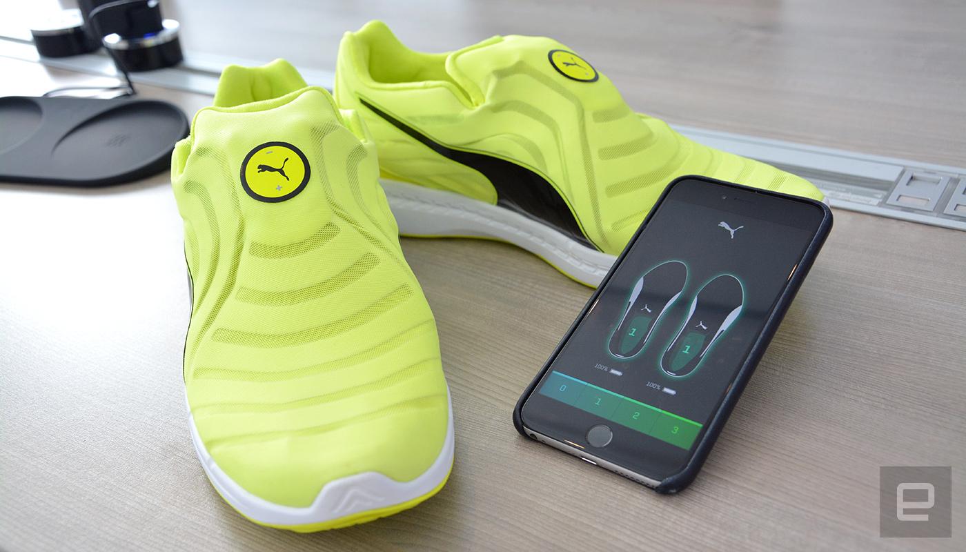 彪马的跑鞋也能自动绑鞋带,虽然穿上后没法「回到未来」...