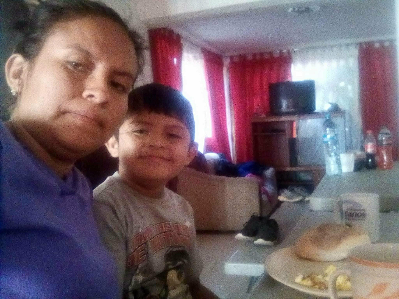 Blanca Orantes-Lopez et son fils Abel