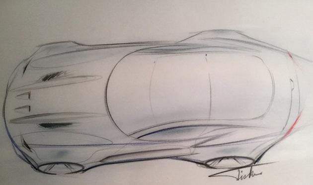 フィスカー、北米国際オートショーで発表する新型スーパーカーのスケッチを公開