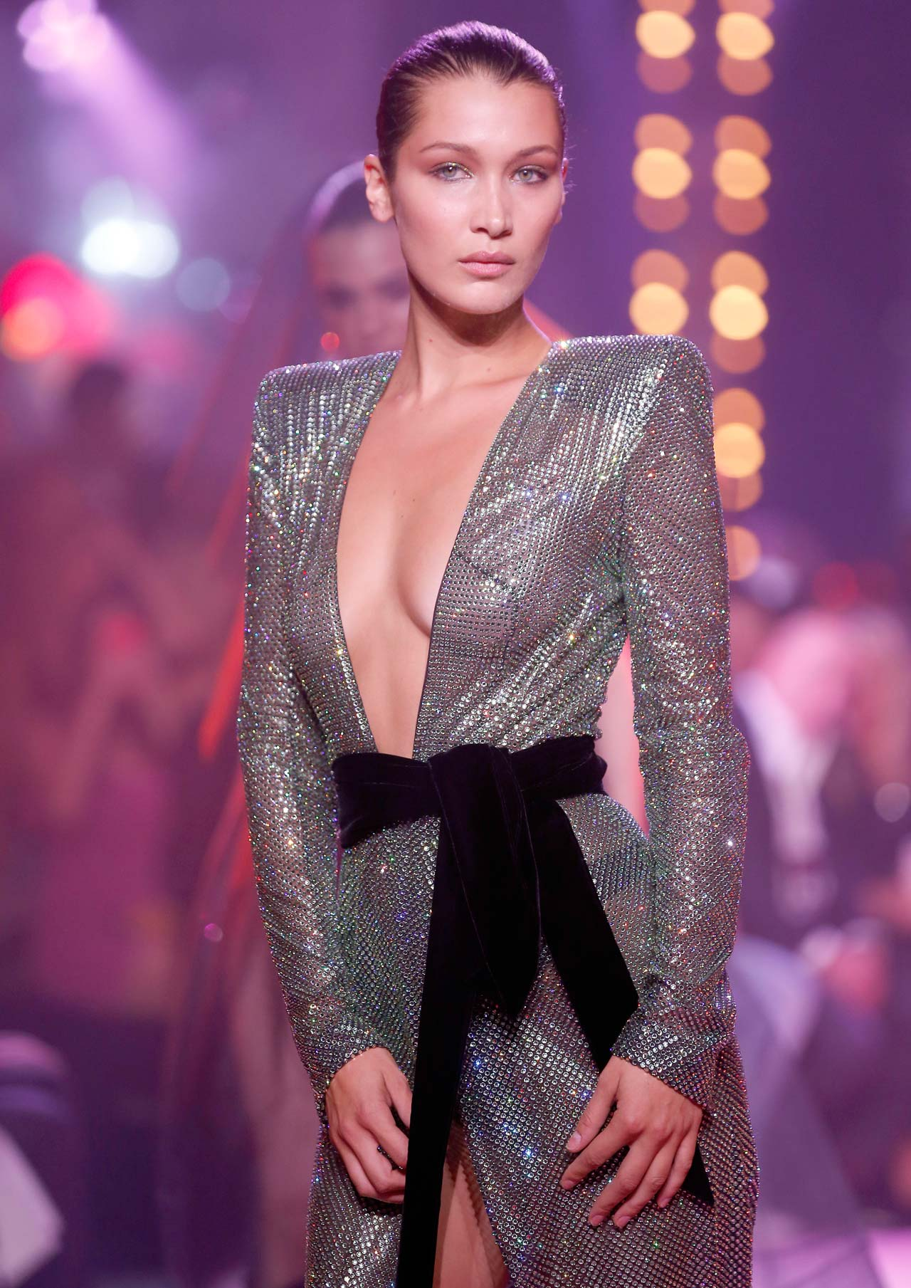 PARIS, FRANCE - JULY 04:  US model  Bella Hadid walks the runway during the Alexander Vauthier Haute Couture Fall/Winter 2017-2018 show as part of Haute Couture Paris Fashion Week on July 4, 2017 in Paris, France.  (Photo by Thierry Chesnot/Getty Images)