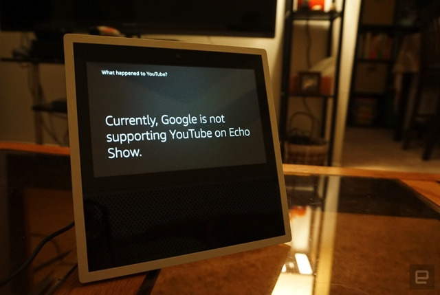 Amazon frowns as Google switched off YouTube support from Echo Show