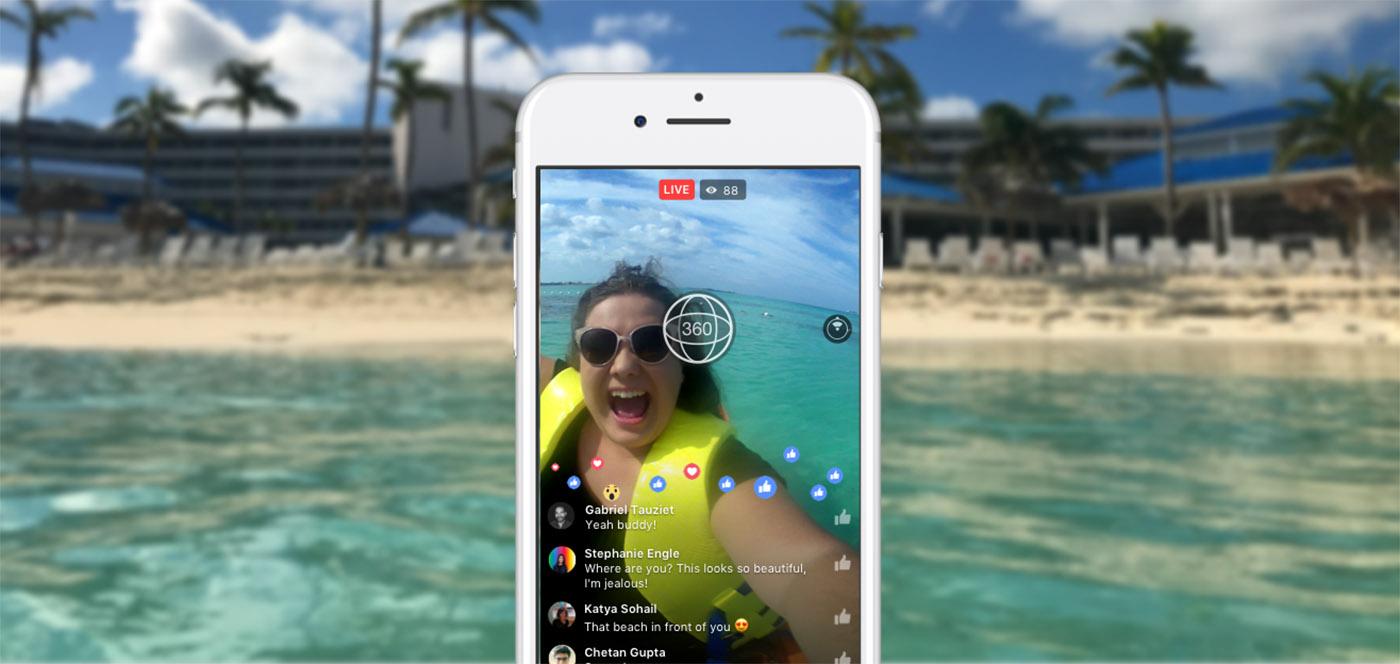 Facebook 向所有人開放 360 度全景直播功能