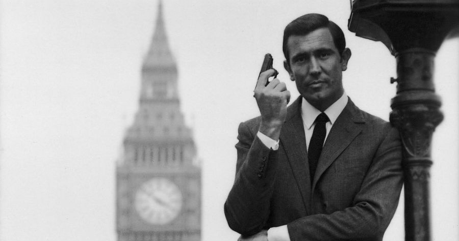 George Lazenby in a promotional still from ON HER MAJESTY'S SECRET SERVICE