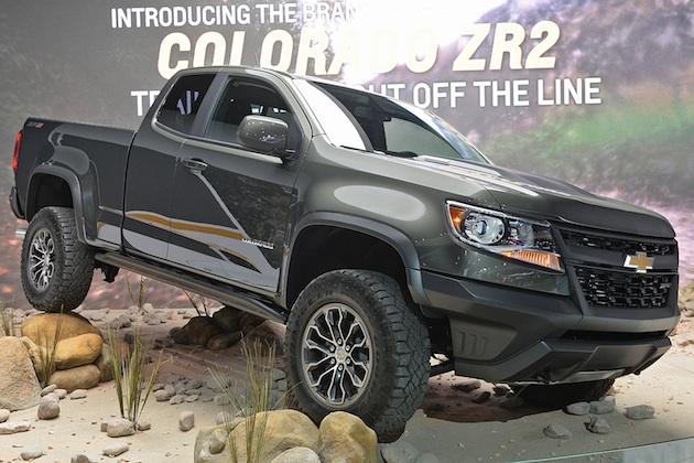 シボレー、オフロード仕様ピックアップ・トラック「コロラド ZR2」の市販モデルを公開