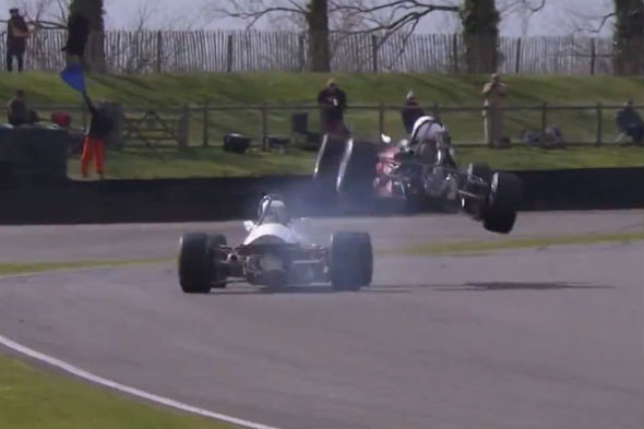 Goodwood crash video