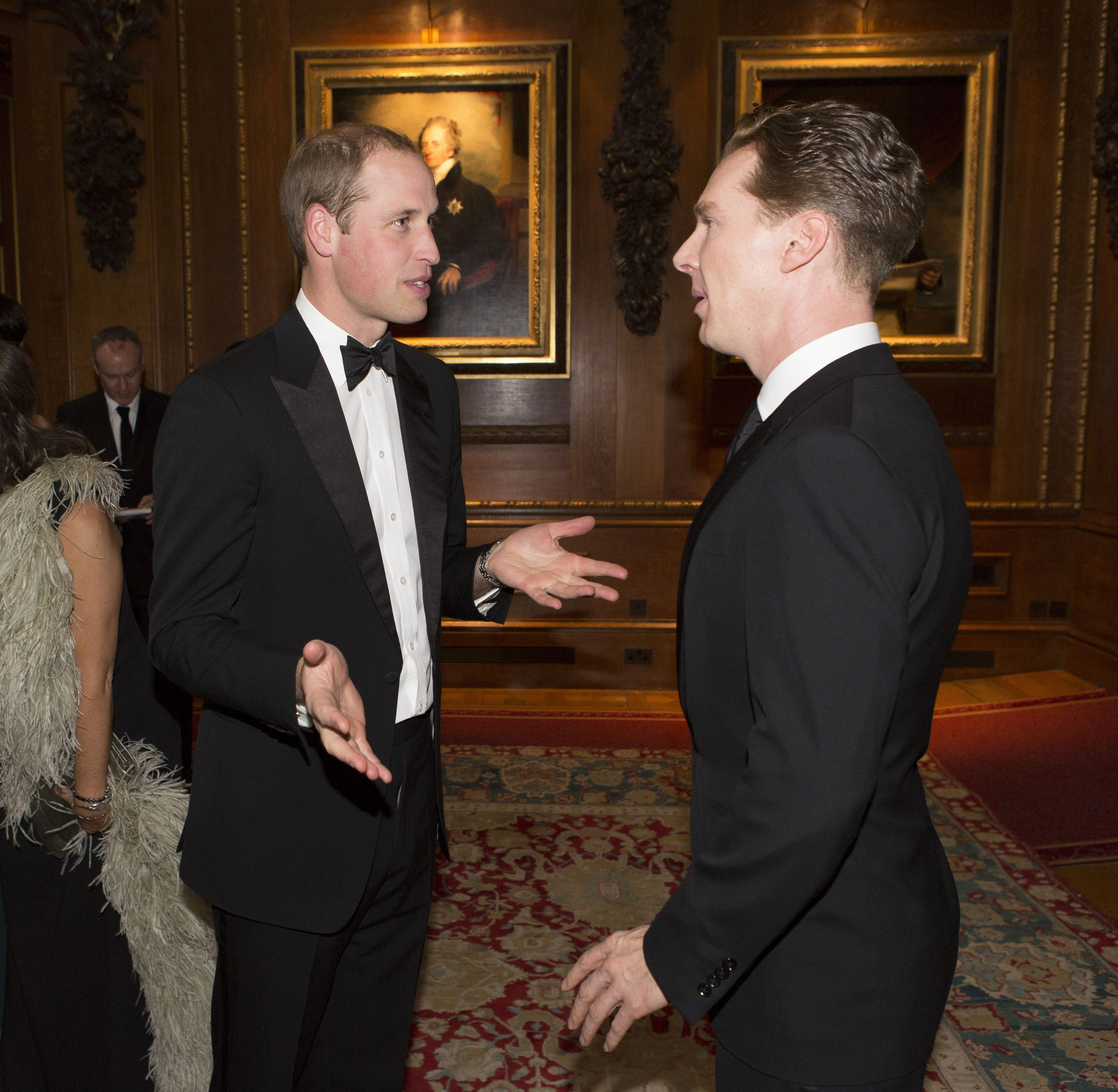 The Duke of Cambridge and Benedict Cumberbatch celebrate the Royal Marsden