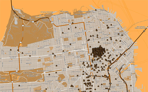 San Franciscos public defecation map highlights a shitty situation