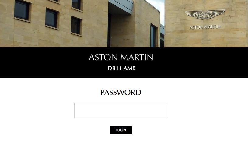 2019 Aston Martin DB11 AMR web page