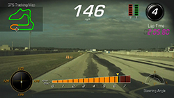 Corvette's Performance Data Recorder - on-screen view
