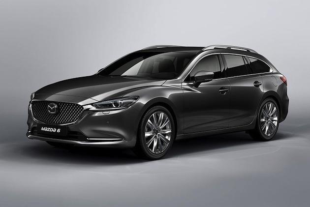 マツダ、マイナーチェンジした「Mazda6(アテンザ)ワゴン」の画像を公開! 実車は3月のジュネーブ・モーターショーで初披露