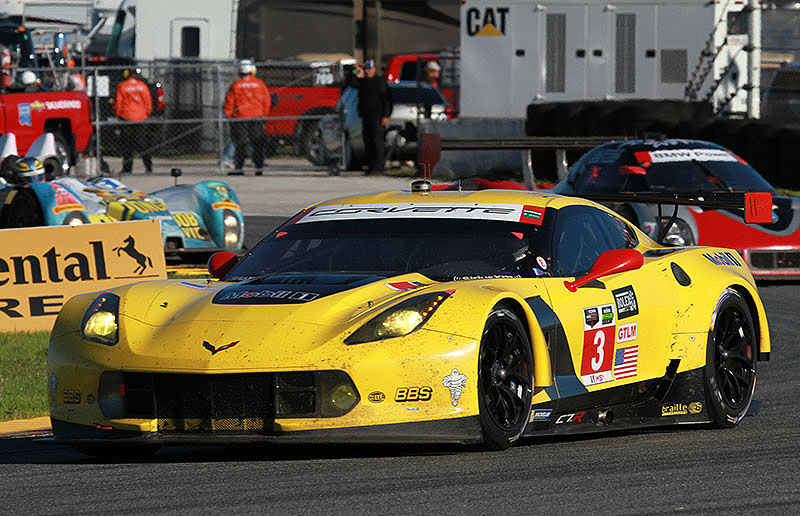 The Corvette Racing C7.R drives during the 2015 Rolex 24 at Daytona.