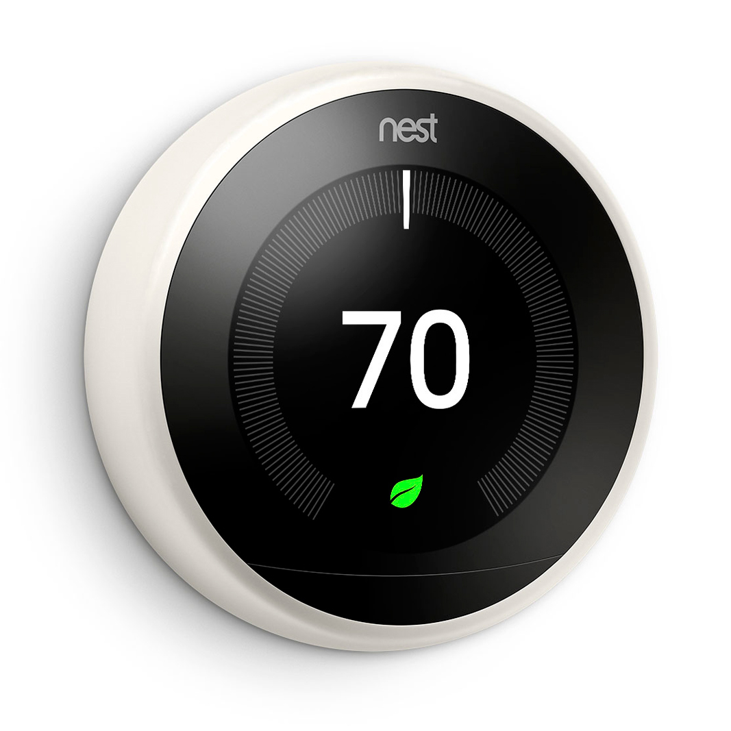 Nest Learning Thermostat in white