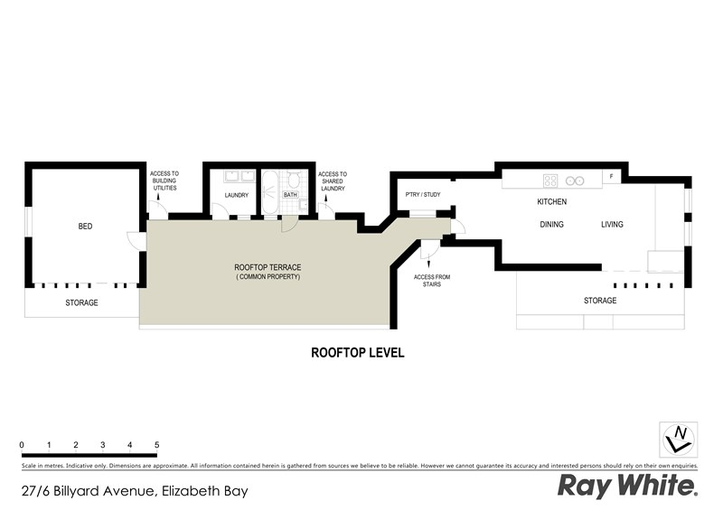 Here's the floor plan. If you've always fancied a place where you have to walk through the 'common terrace...