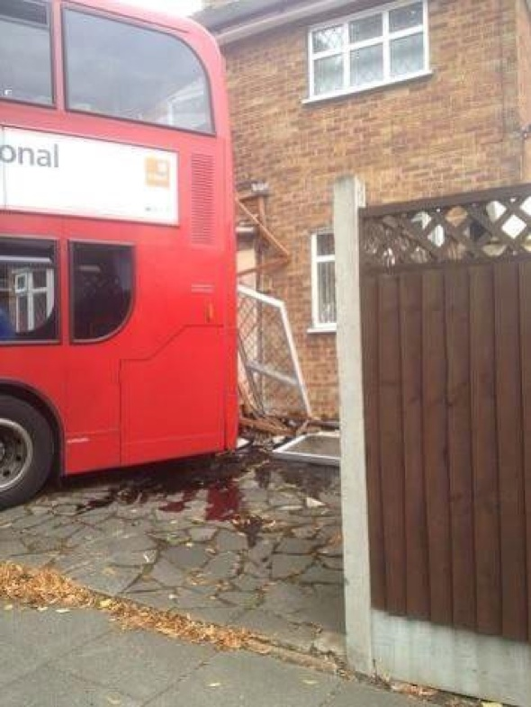 Bus crashes into house in Harold Hill while family on holiday in Spain