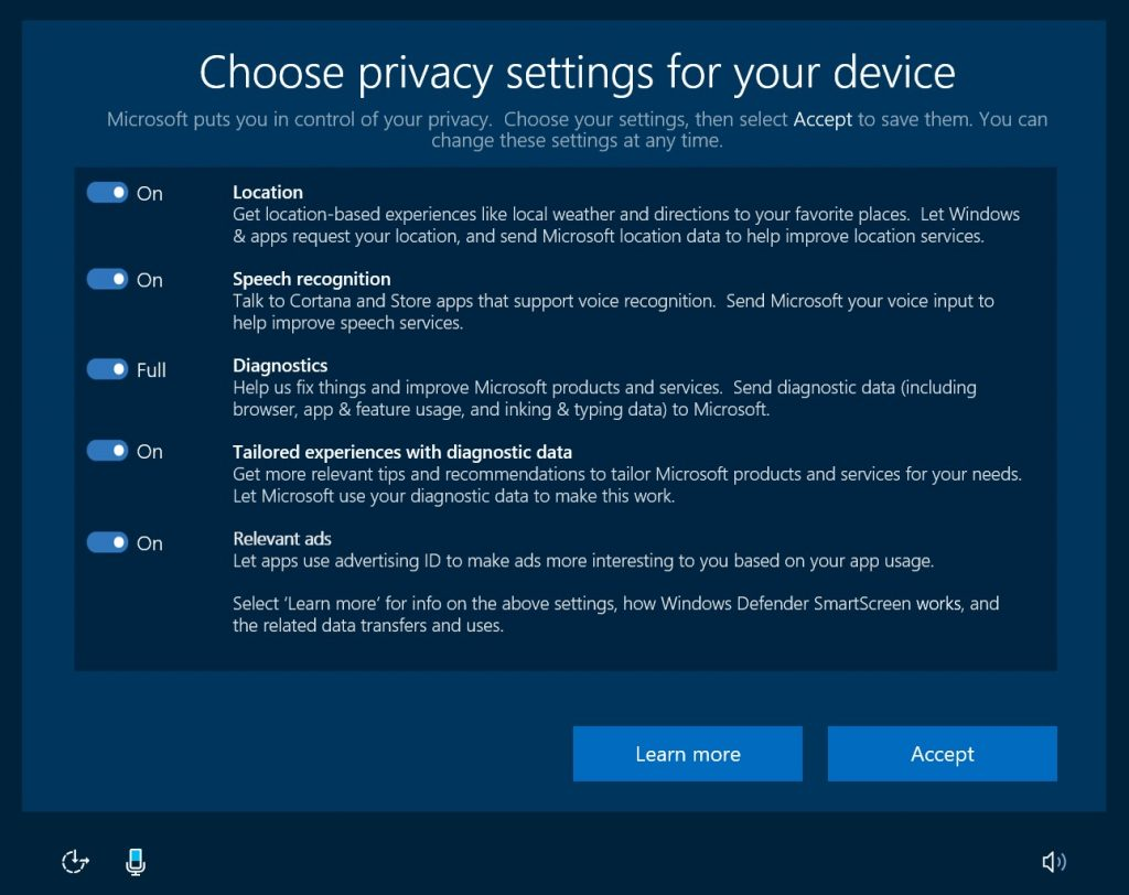 Privacy 2 1024x812 - Windows 10 Creators update is now available