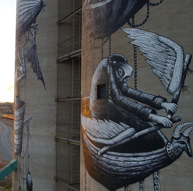 UK artist Phlegm was inspired by the Wheatbelt's history of