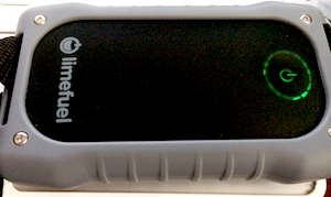 Battery indicator on outside of Limefuel Rugged L150XR