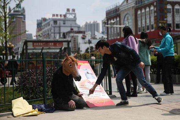 Mr Chen in the street