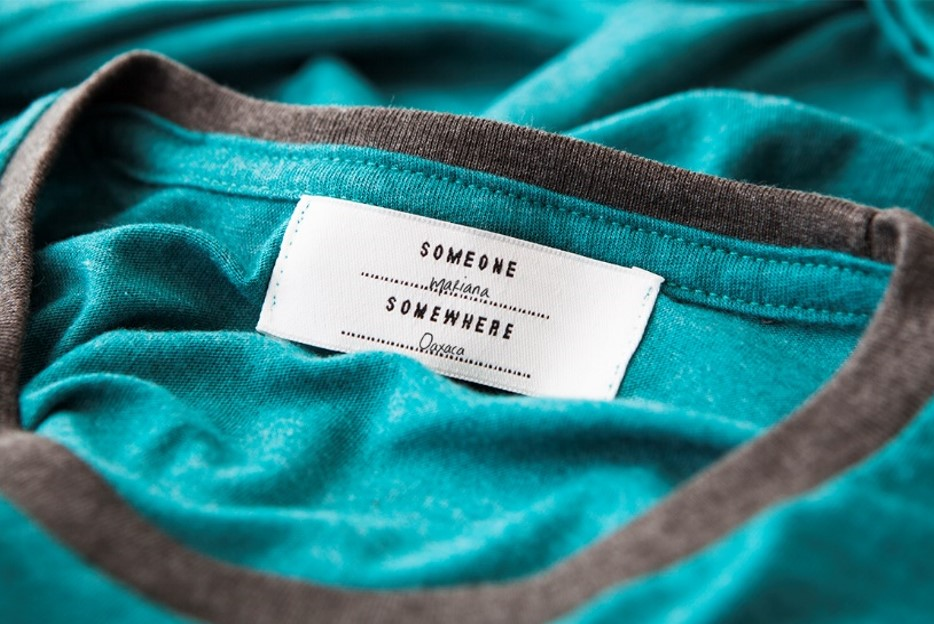 The label that comes in every product of the Someone Somewhere apparel, with the signature of the artisan...