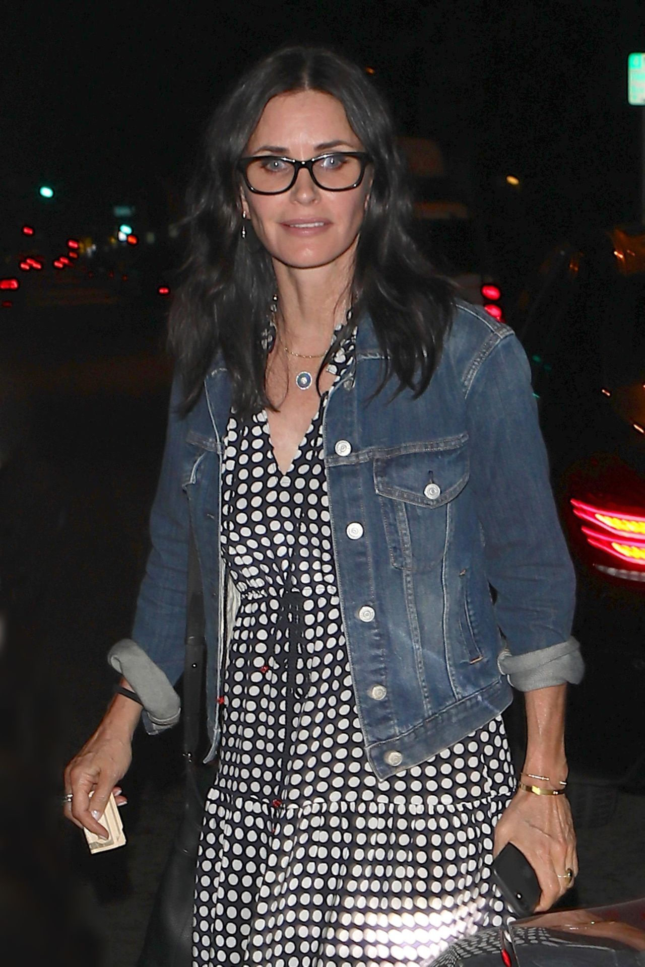 West Hollywood, CA  - *EXCLUSIVE* *WEB MUST CALL FOR PRICING** - Former 'Friends' co-stars Jennifer Aniston and Courteney Cox were seen attending a party with several other celebs at a restaurant in West Hollywood.  Pictured: Courteney Cox  BACKGRID USA 30 JUNE 2017   USA: +1 310 798 9111 / usasales@backgrid.com  UK: +44 208 344 2007 / uksales@backgrid.com  *UK Clients - Pictures Containing Children Please Pixelate Face Prior To Publication*