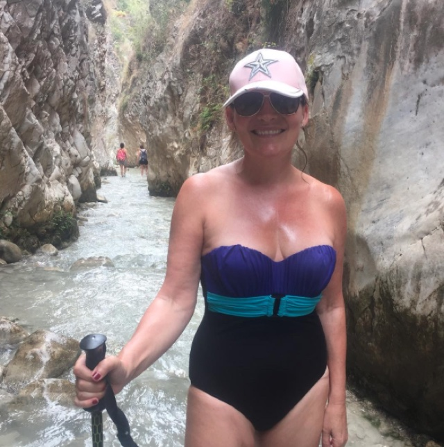 Lorraine Kelly Instagrams swimsuit picture from Spain holiday