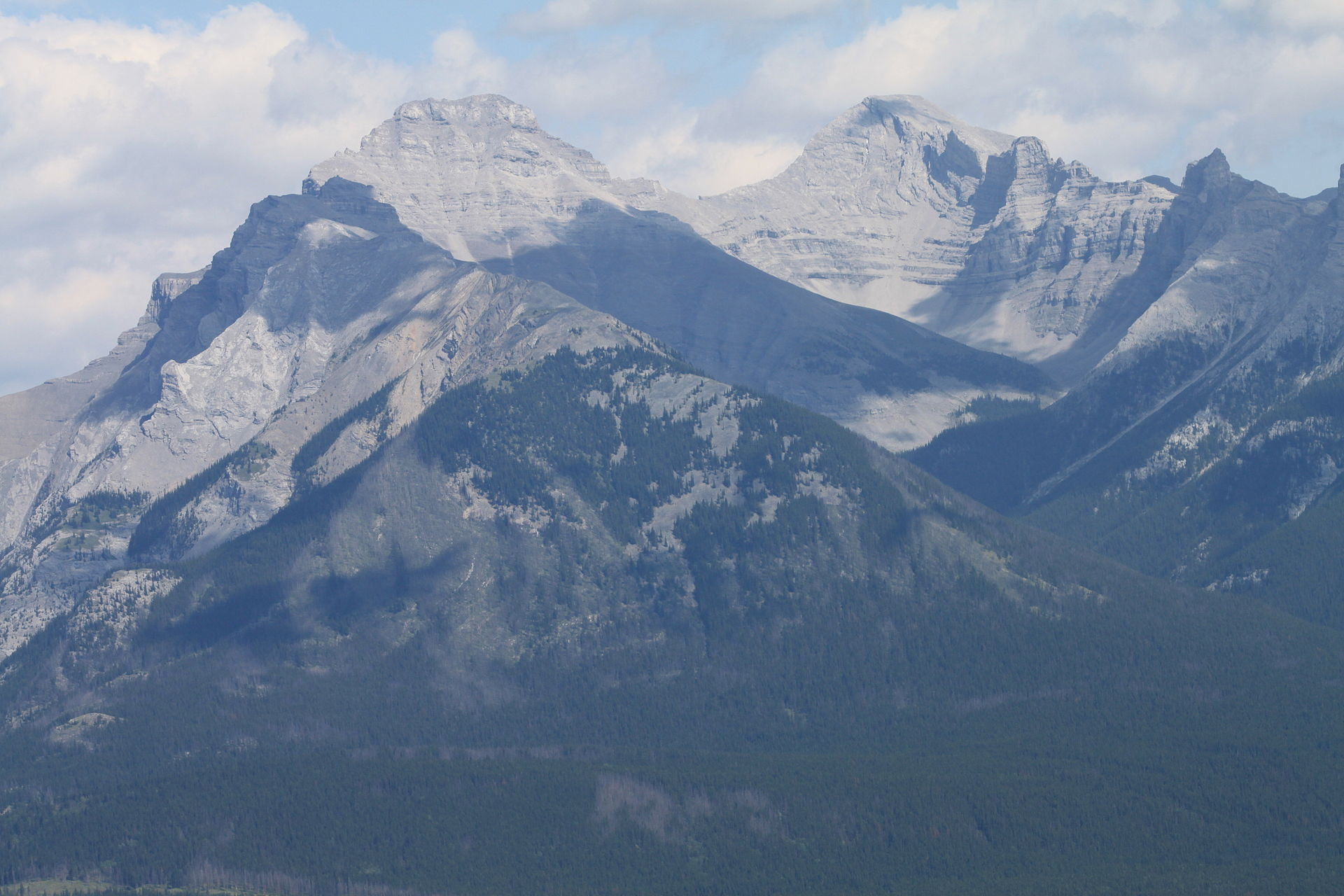 Mount Girouard on the right in Banff National