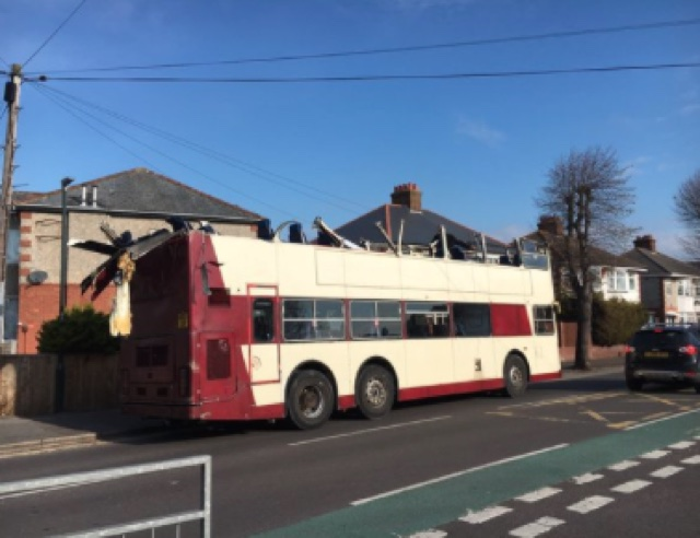 Bus roof ripped off in Bournemouth railway bridge crash