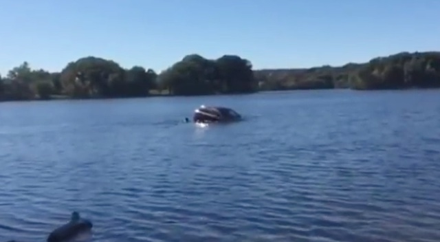 Woman rescued from sinking car in Massachusetts