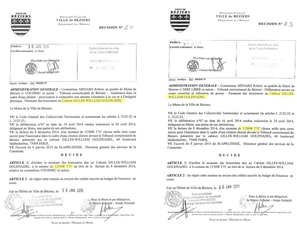 Depuis l'élection de Robert Ménard, Béziers a dépensé plus de 570.000 euros en frais d'avocat et