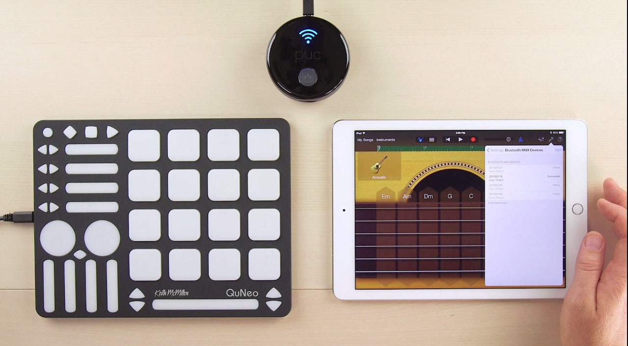 Ios And Mac Musicians Can Ditch Wires With Bluetooth Midi Device About A Foot You Repurpose Those Within The Controller If Youre Thinking Wait Minute Doesnt Zivix Already Have Wireless Yes But Model Apparently Offers Few Advantages