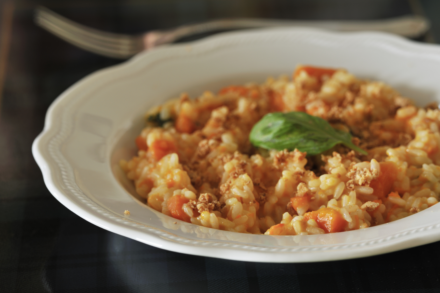 Bowl of Italian risotto