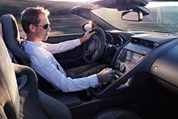 2016 Jaguar F-Type S Convertible - interior view showing manual transmission