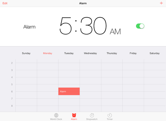 Clock Alarm iPad