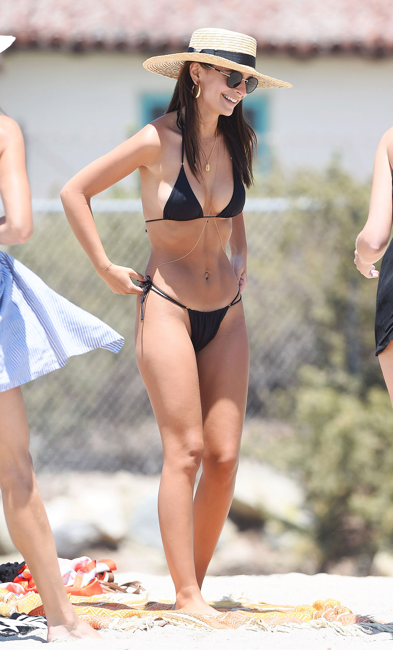Emily Ratajkowski Is All Smiles Showing Off Toned Beach