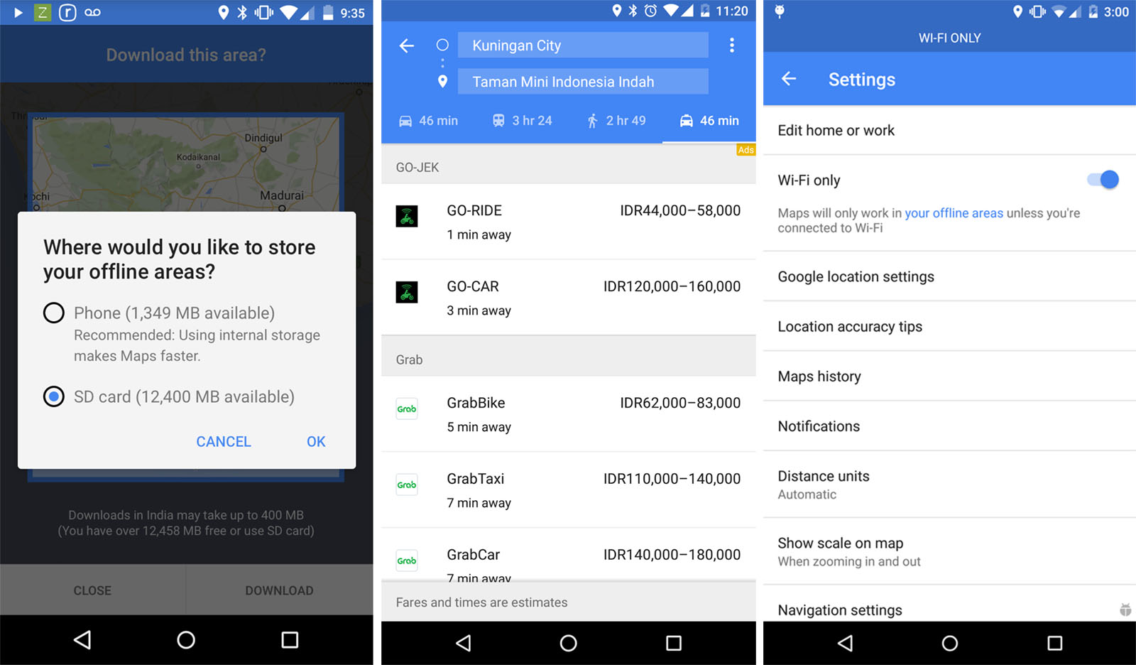 Google Maps For Android Lets You Save Maps To An SD Card - Sd maps