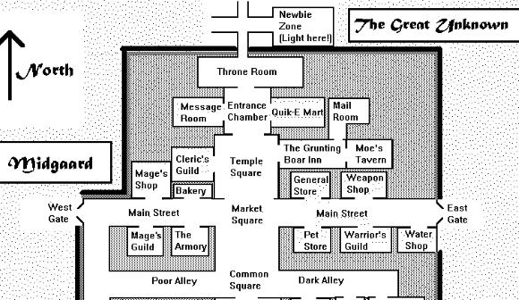 DikuMud Room Map