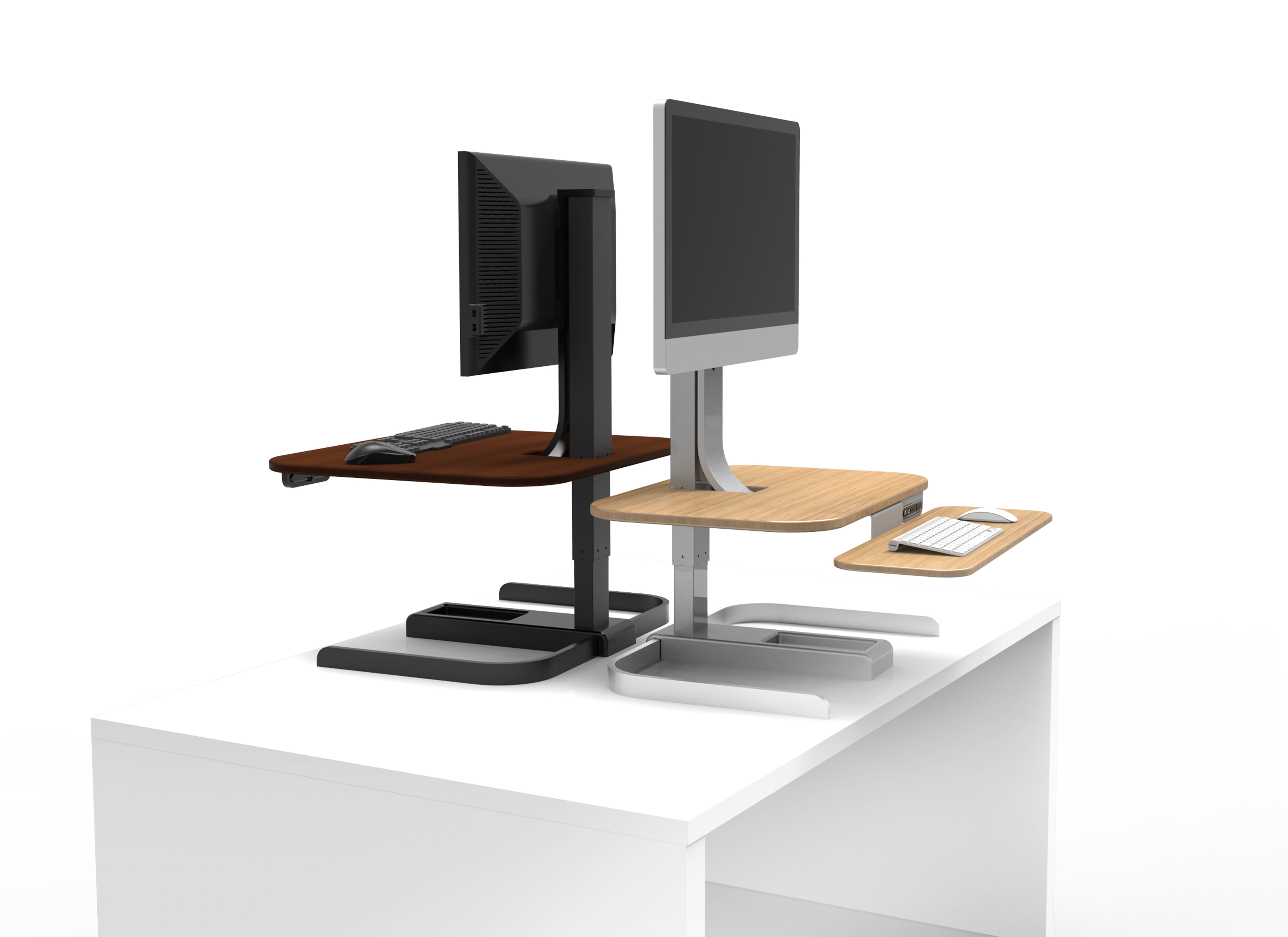 height size best corner pc table platform converter using tabletop vivo hydraulic hot desks canada desk adjustable riser top elevated on up computer sit of decorating and existing standing office workstation to stand full in