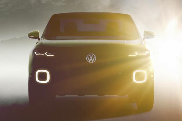 フォルクスワーゲン、ジュネーブで公開予定の小型SUVコンセプトをチラ見せ