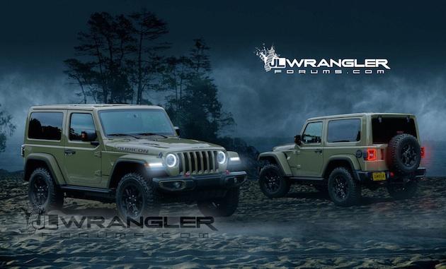 次期型ジープ「ラングラー」のテスト車両から、フォーラム・サイトが予想画像を作成