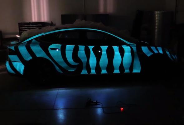 Electronic flashing paint