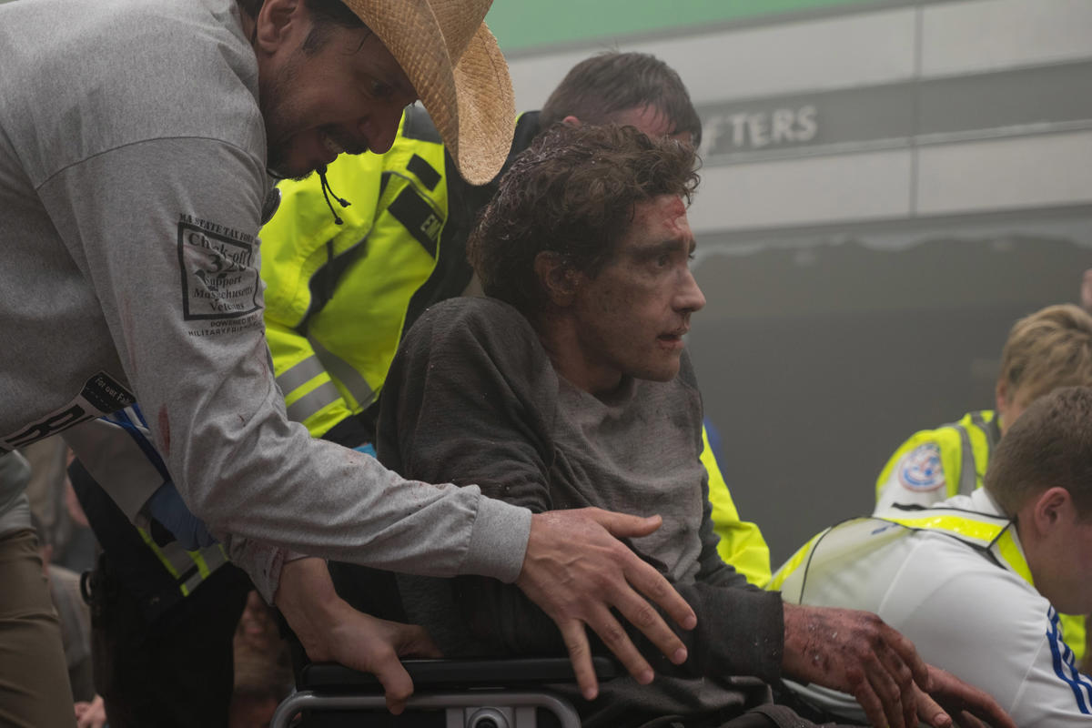 (062317) Jake Gyllenhaal in the movie about Jeff Bauman STRONGER. Photo credit: Scott Garfield; Courtesy of Lionsgate and Roadside Attractions