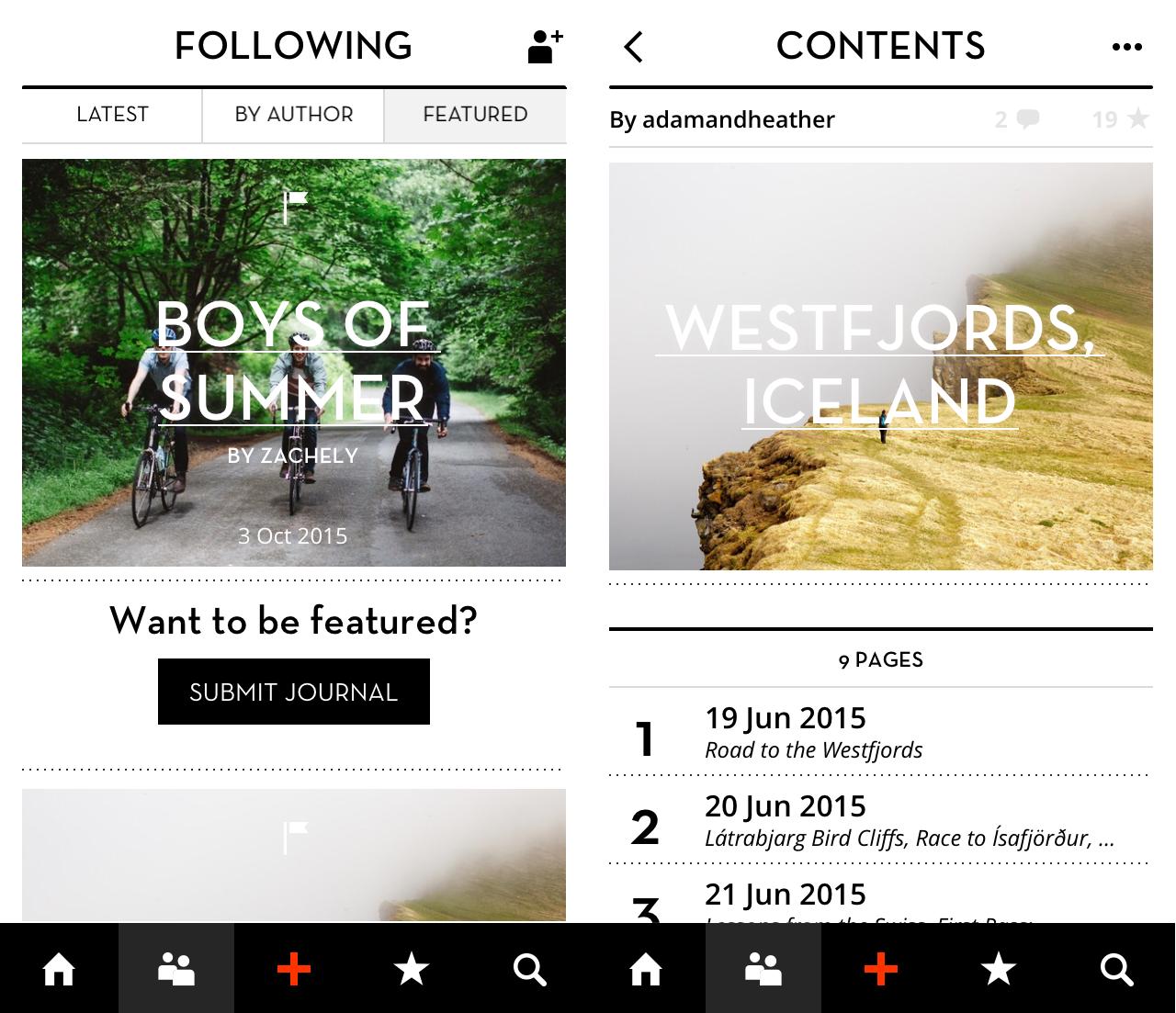 Bonjournal app screenshot