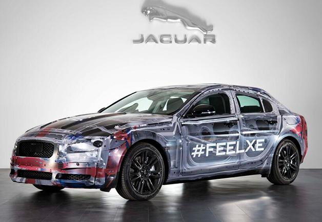 ジャガーが新型「XE」のティーザー画像を公開